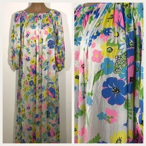 VTG 1970s Mistee Nylon Floral Womens Nightgown M
